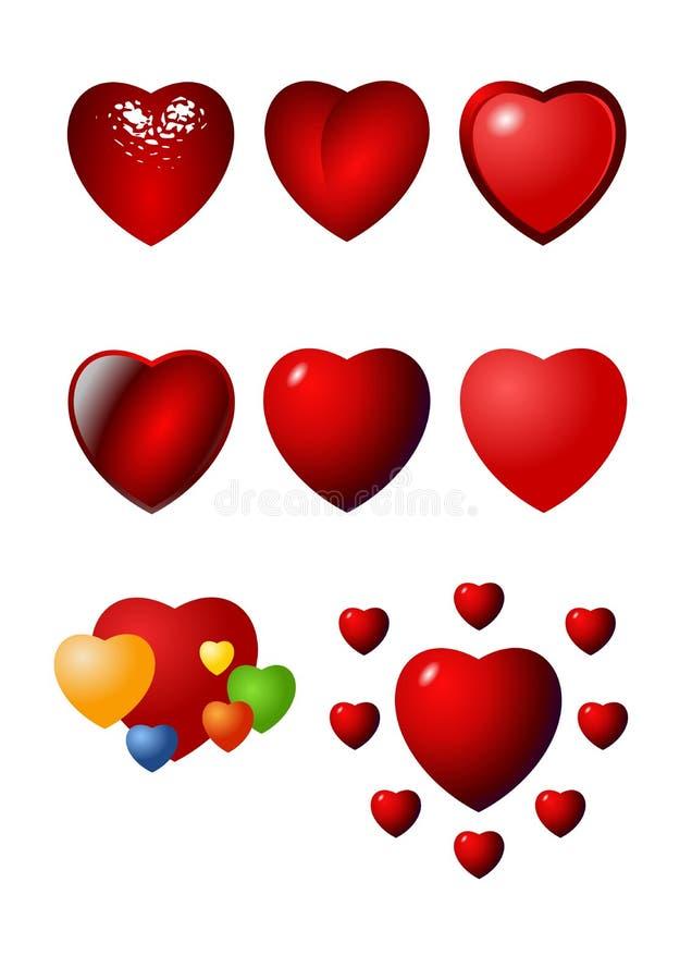 Download Insieme Dell'icona Del Cuore Del Biglietto Di S. Valentino Illustrazione Vettoriale - Illustrazione di anniversario, nozze: 3891119