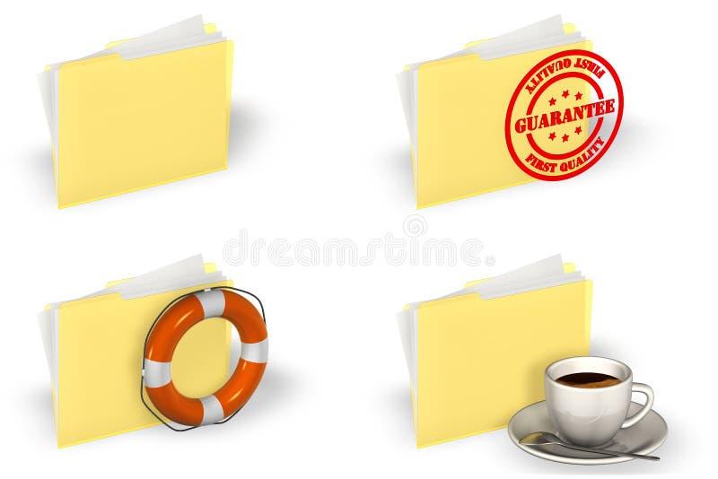 Download Insieme Dell'icona Del Dispositivo Di Piegatura Illustrazione di Stock - Illustrazione di sopra, folder: 3135093