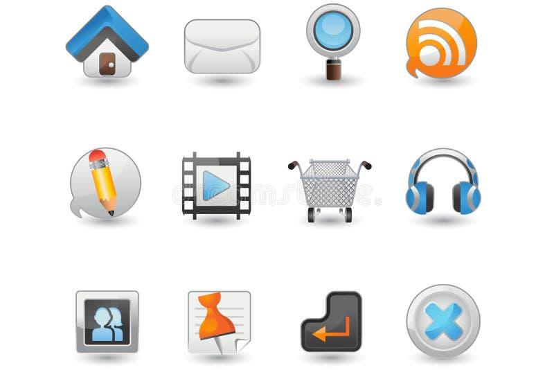 Insieme dell'icona del Internet e di Web site illustrazione vettoriale