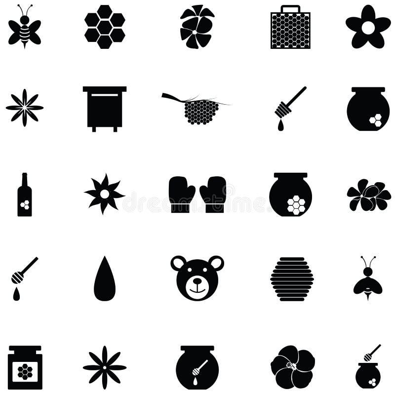 Insieme dell'icona del miele illustrazione di stock