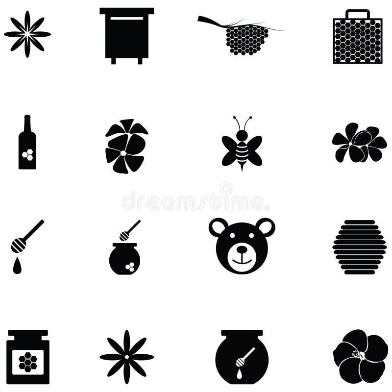 Insieme dell'icona del miele illustrazione vettoriale