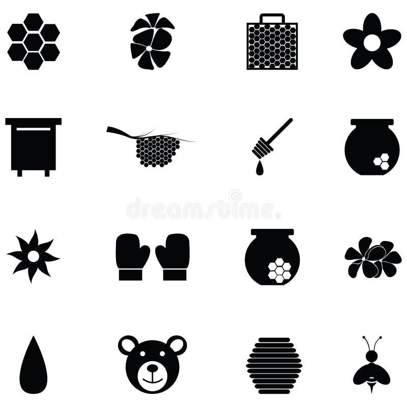Insieme dell'icona del miele royalty illustrazione gratis