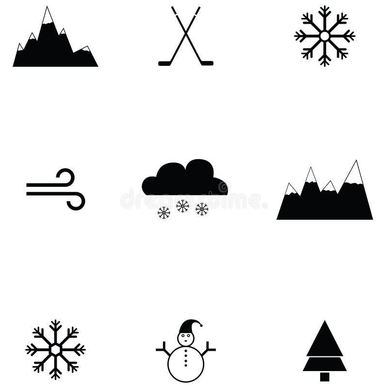 Insieme dell'icona del pattino da ghiaccio illustrazione vettoriale
