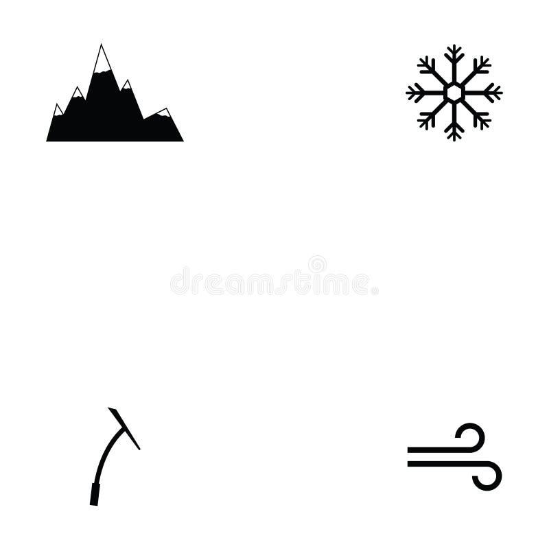 Insieme dell'icona del pattino da ghiaccio royalty illustrazione gratis