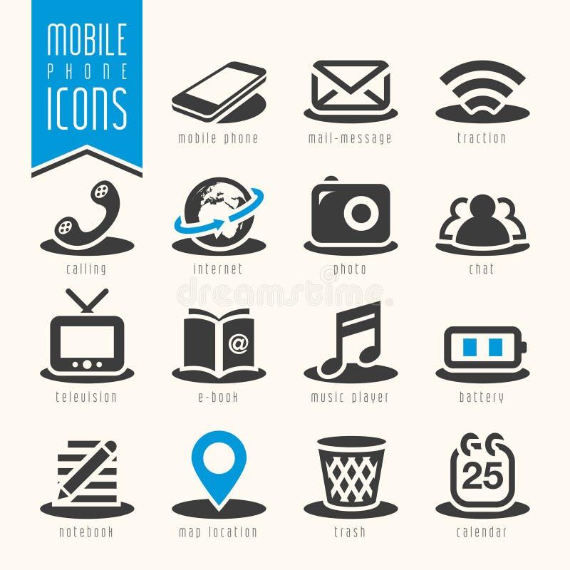 Insieme dell'icona del telefono cellulare royalty illustrazione gratis