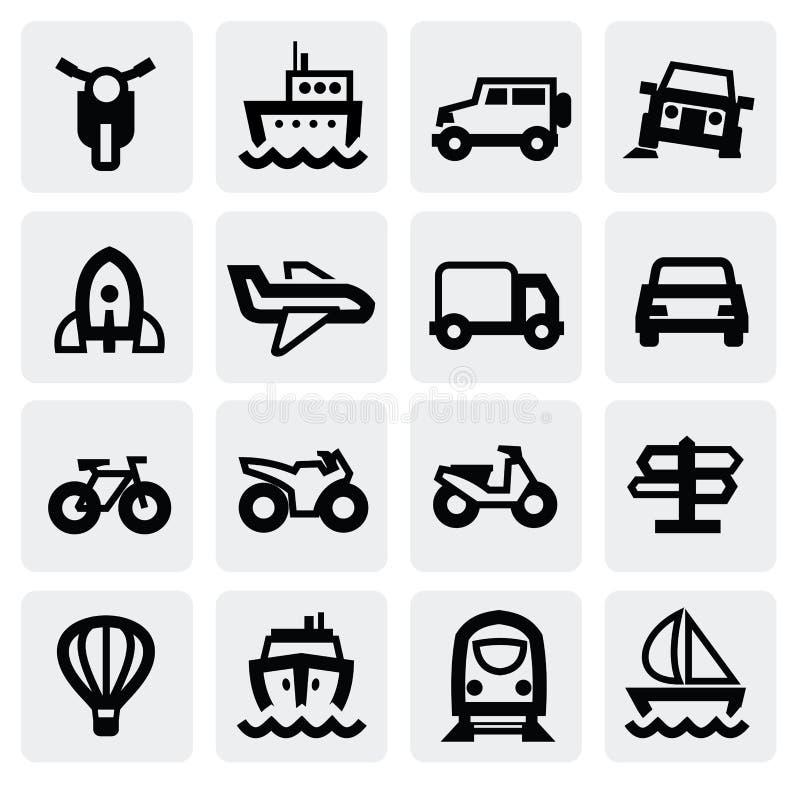Insieme dell'icona del trasporto illustrazione vettoriale