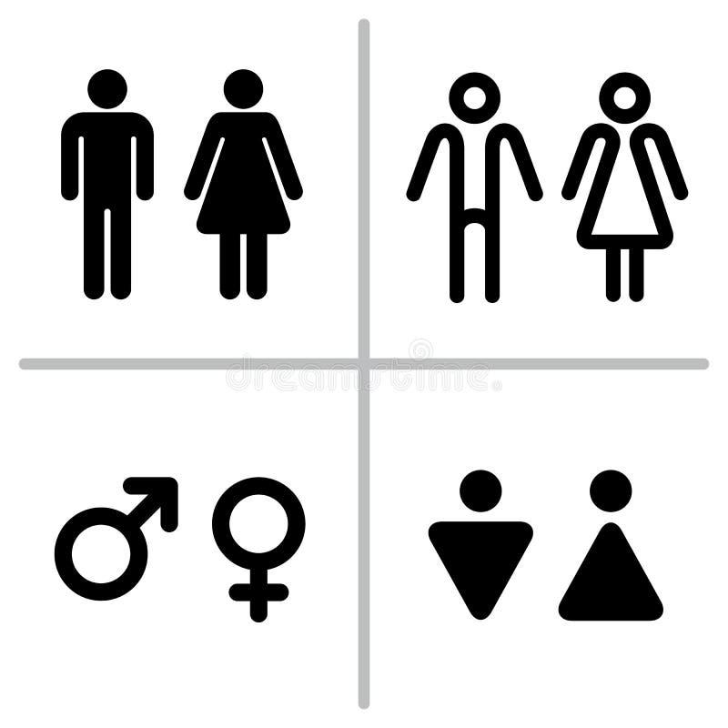 Insieme dell'icona del WC royalty illustrazione gratis