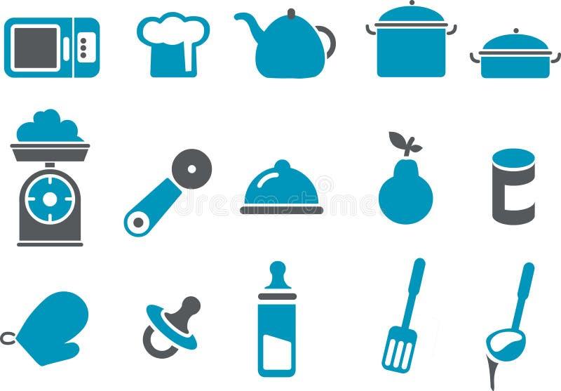 Insieme dell'icona dell'alimento royalty illustrazione gratis