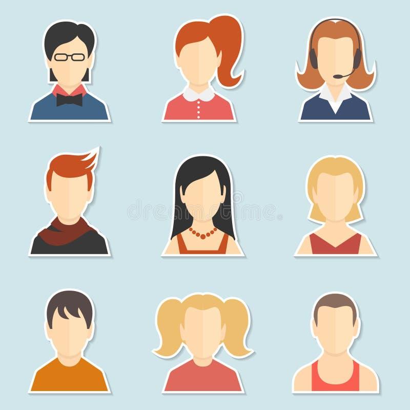Insieme dell'icona dell'avatar royalty illustrazione gratis