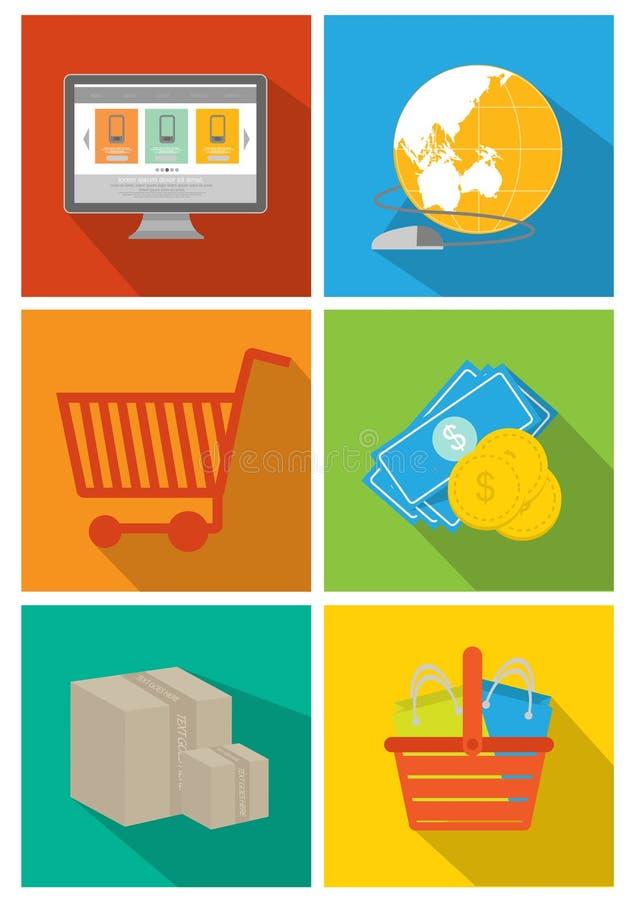 Insieme dell'icona dell'interfaccia di web e di codifica immagini stock