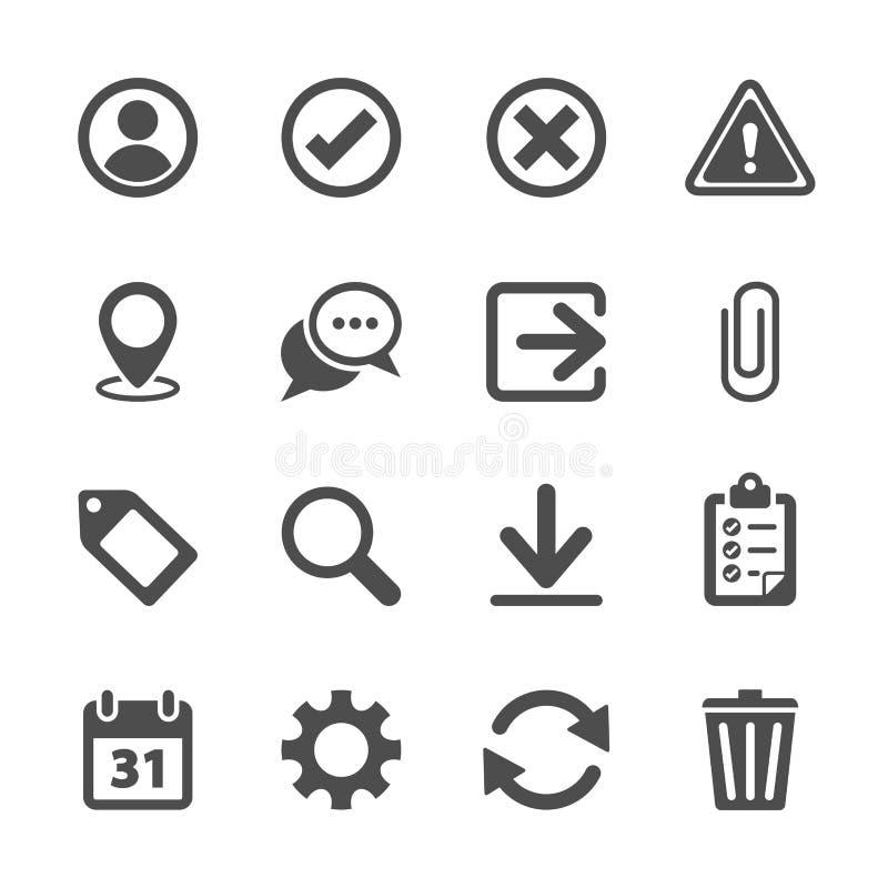 Insieme dell'icona della barra degli strumenti, vettore eps10 illustrazione di stock