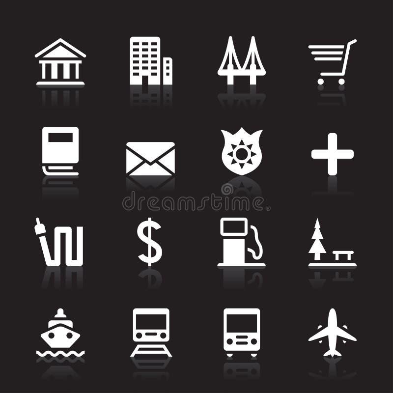 Insieme dell'icona della città immagine stock libera da diritti