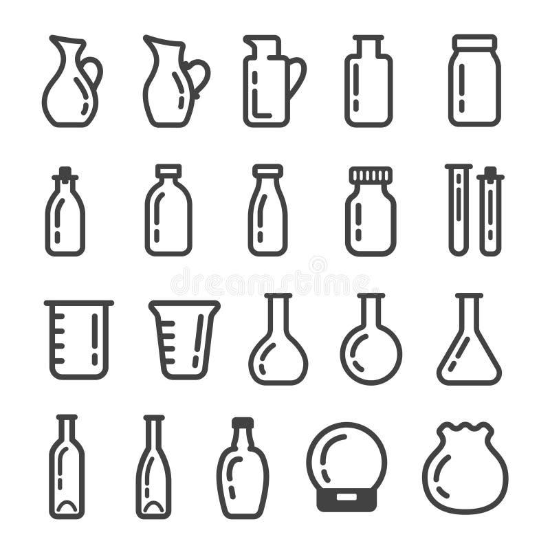 Insieme dell'icona della cristalleria royalty illustrazione gratis