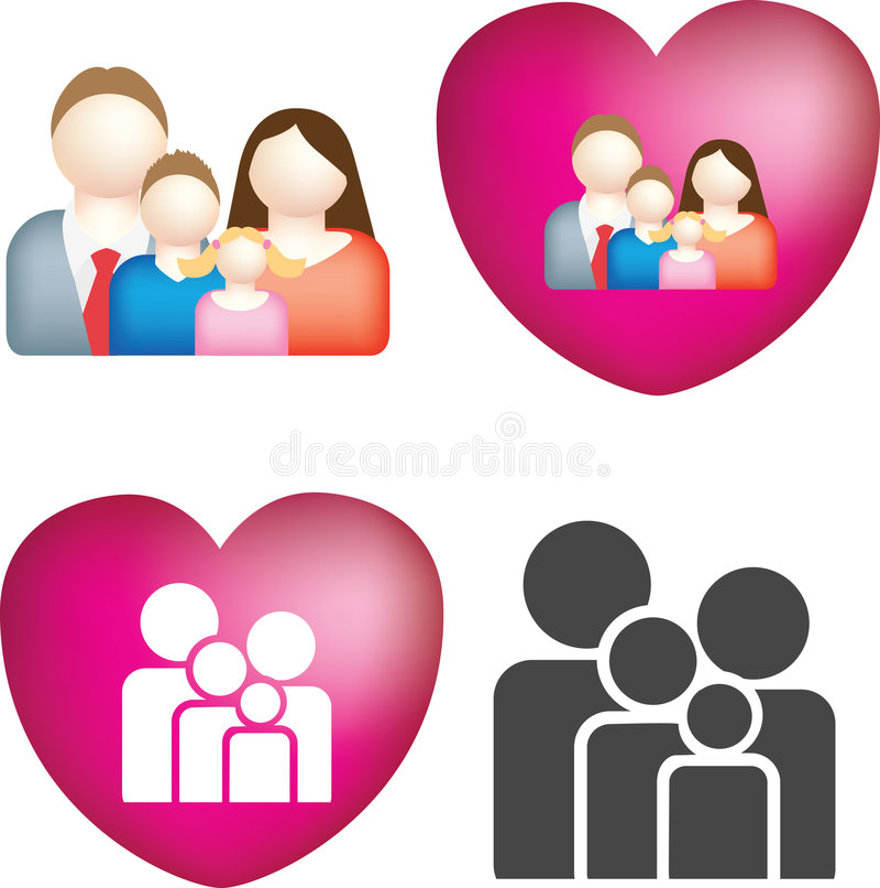 Insieme dell'icona della famiglia royalty illustrazione gratis