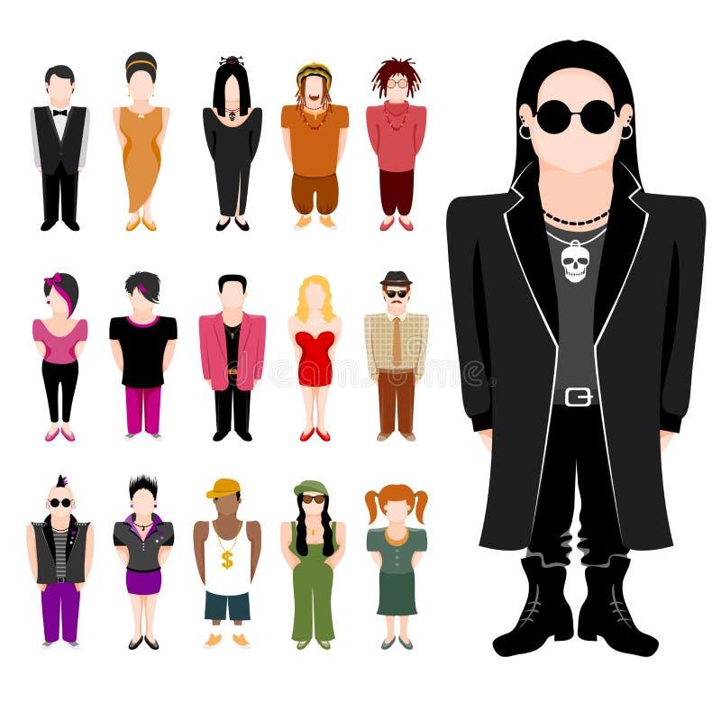 Insieme dell'icona della gente royalty illustrazione gratis