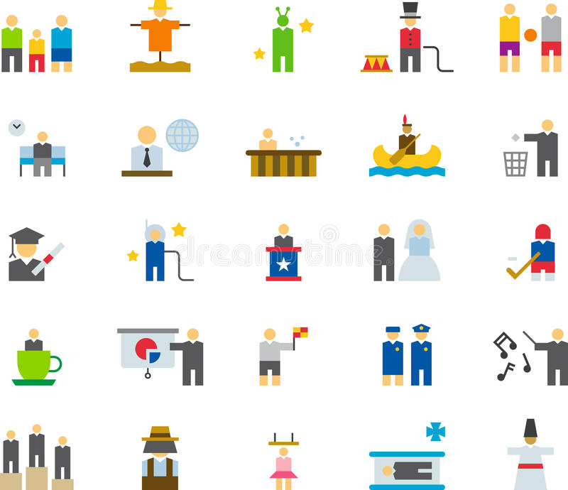 Insieme dell'icona della gente illustrazione vettoriale