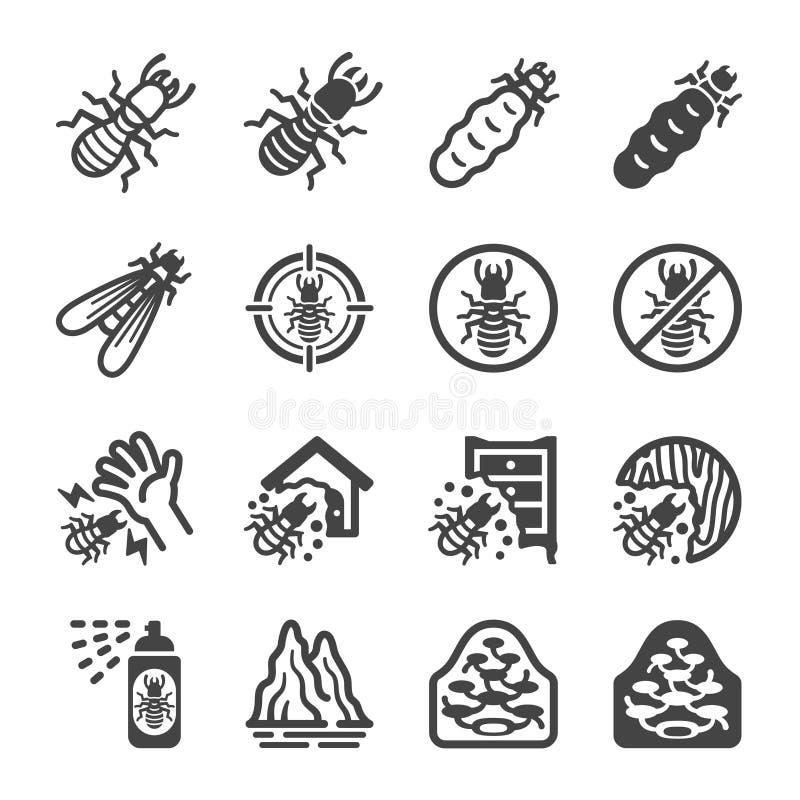 Insieme dell'icona della termite illustrazione vettoriale