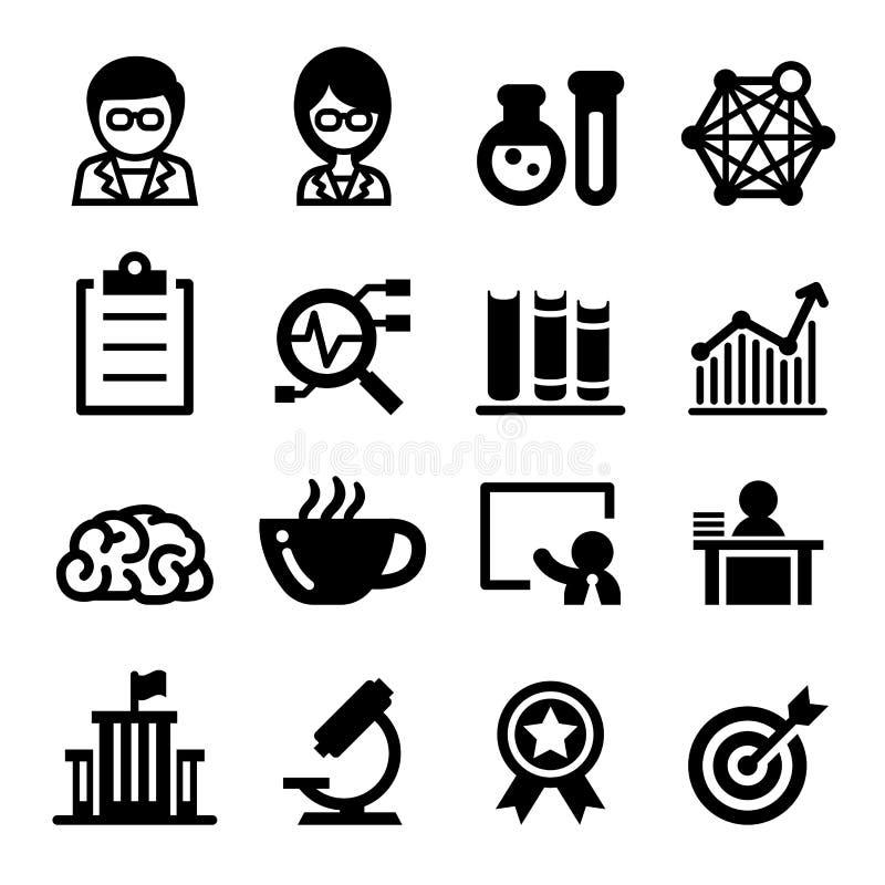 Insieme dell'icona dello scienziato illustrazione vettoriale