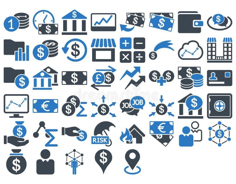 Insieme dell'icona di affari illustrazione di stock