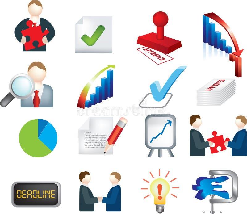 Insieme dell'icona di affari di affari illustrazione di stock