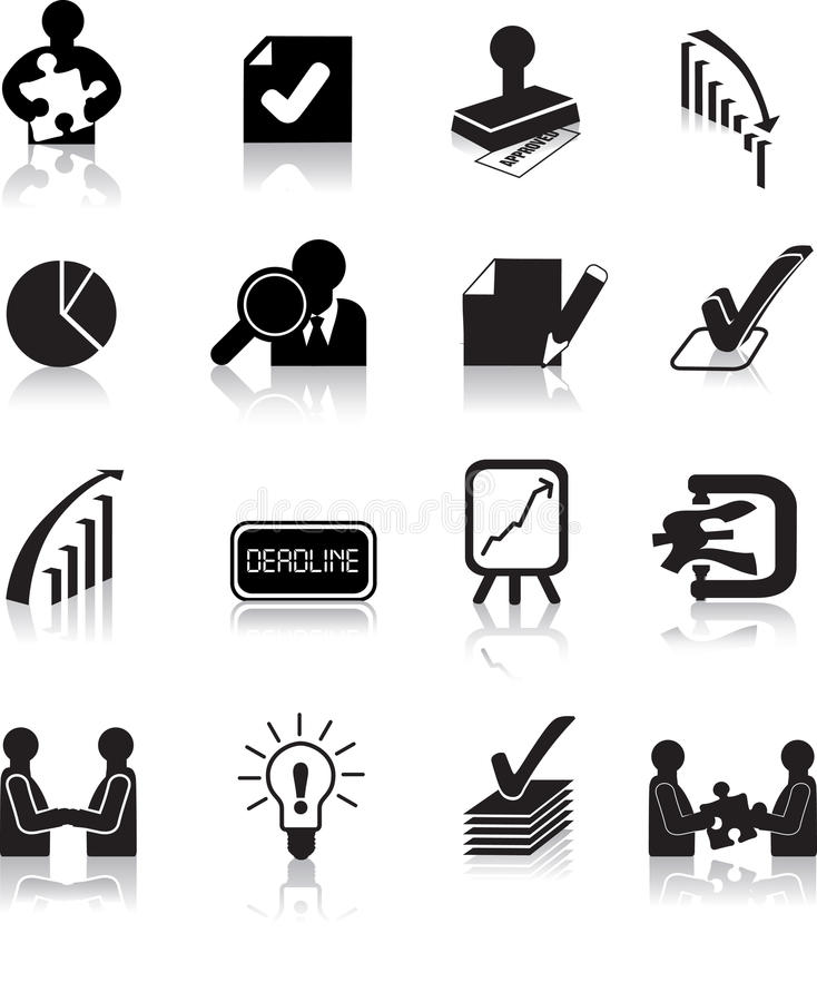 Insieme dell'icona di affari di affari illustrazione vettoriale