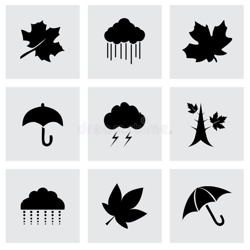 Insieme dell'icona di autunno di vettore illustrazione di stock
