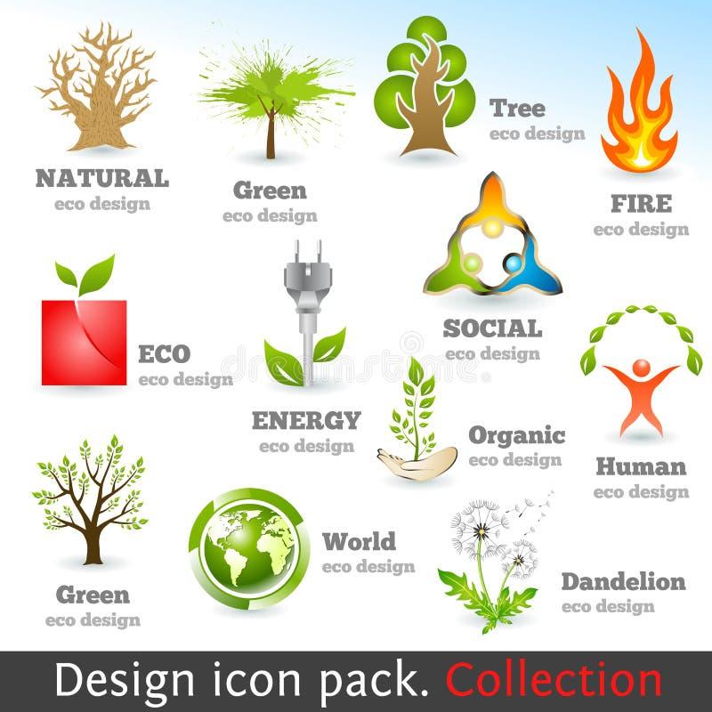 Insieme dell'icona di colore di disegno 3d. Elementi di disegno illustrazione di stock
