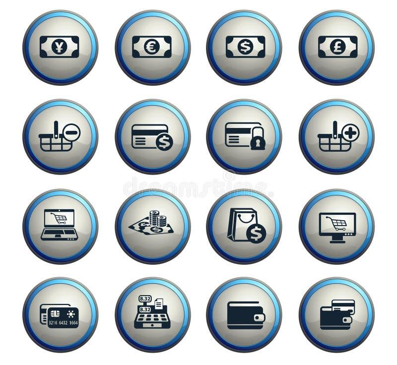 Insieme dell'icona di commercio elettronico royalty illustrazione gratis