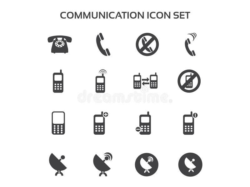 Insieme dell'icona di comunicazione fotografie stock libere da diritti