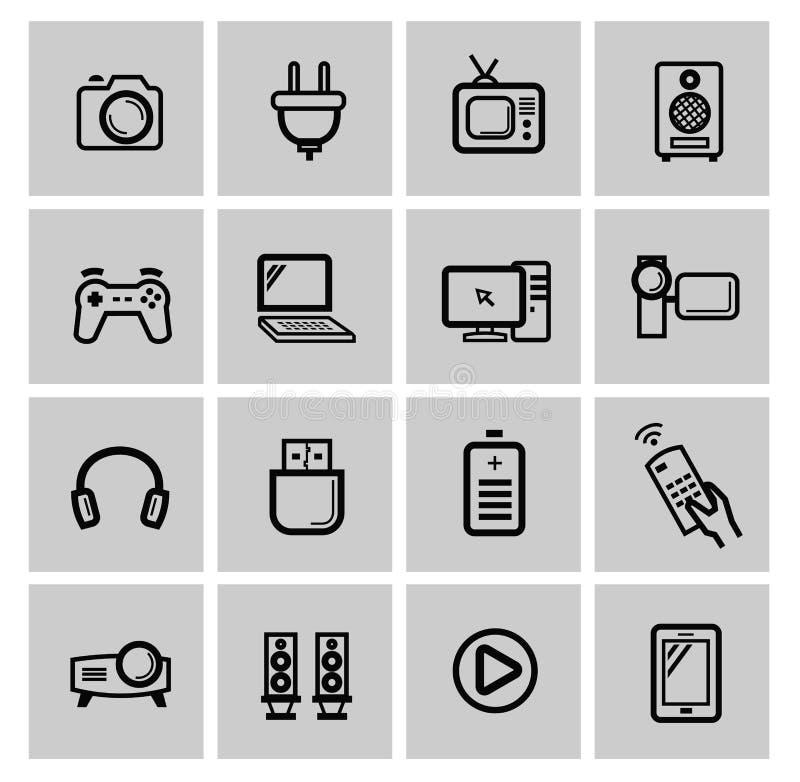 Insieme dell'icona di elettronica di vettore illustrazione vettoriale