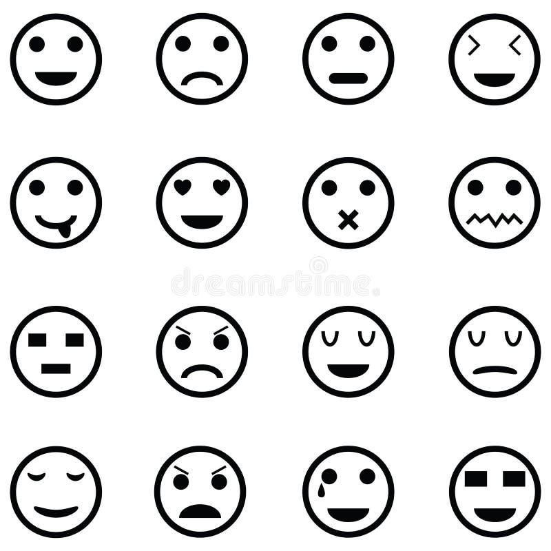 Insieme dell'icona di emozione royalty illustrazione gratis