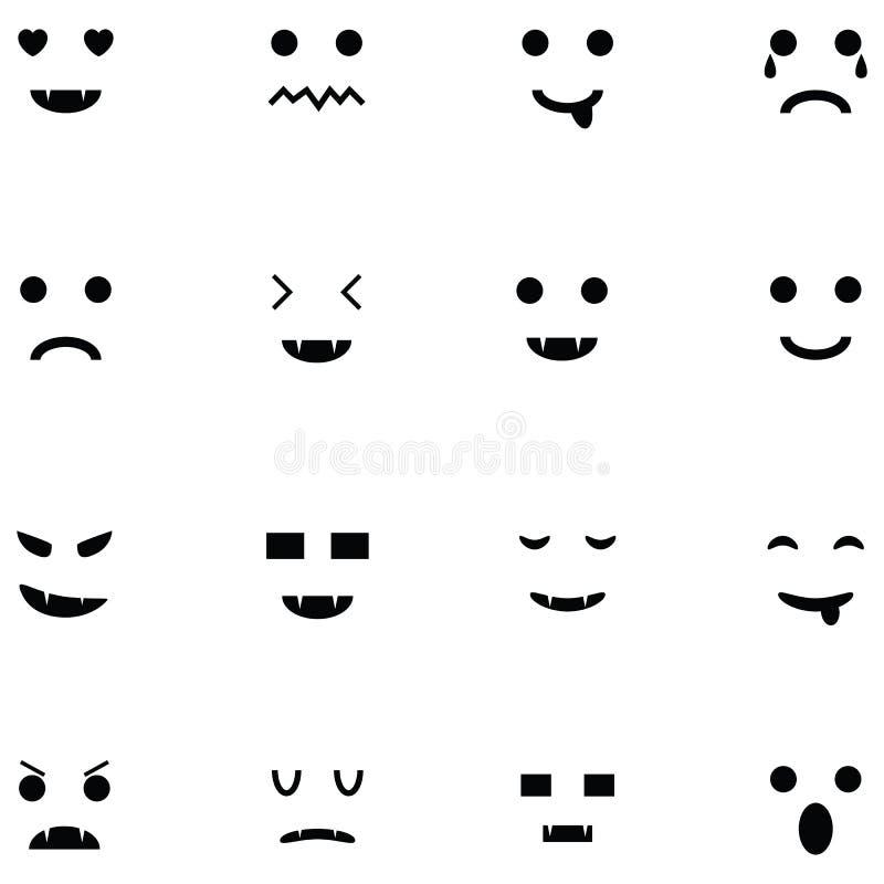 Insieme dell'icona di emozione illustrazione vettoriale