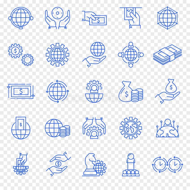Insieme dell'icona di finanze e di affari icona 25 illustrazione di stock