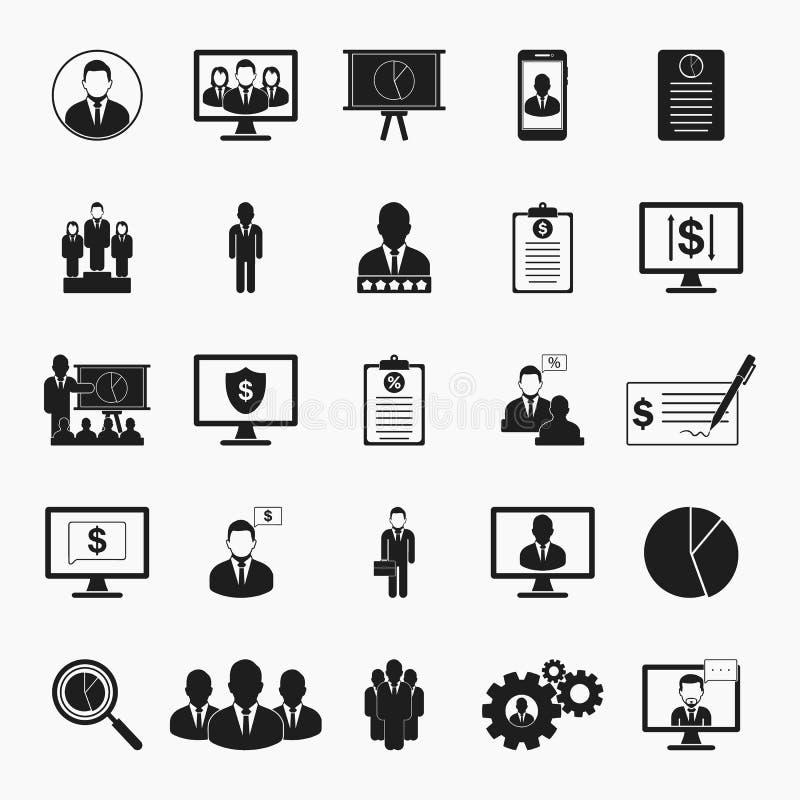 Insieme dell'icona di finanze e di affari royalty illustrazione gratis
