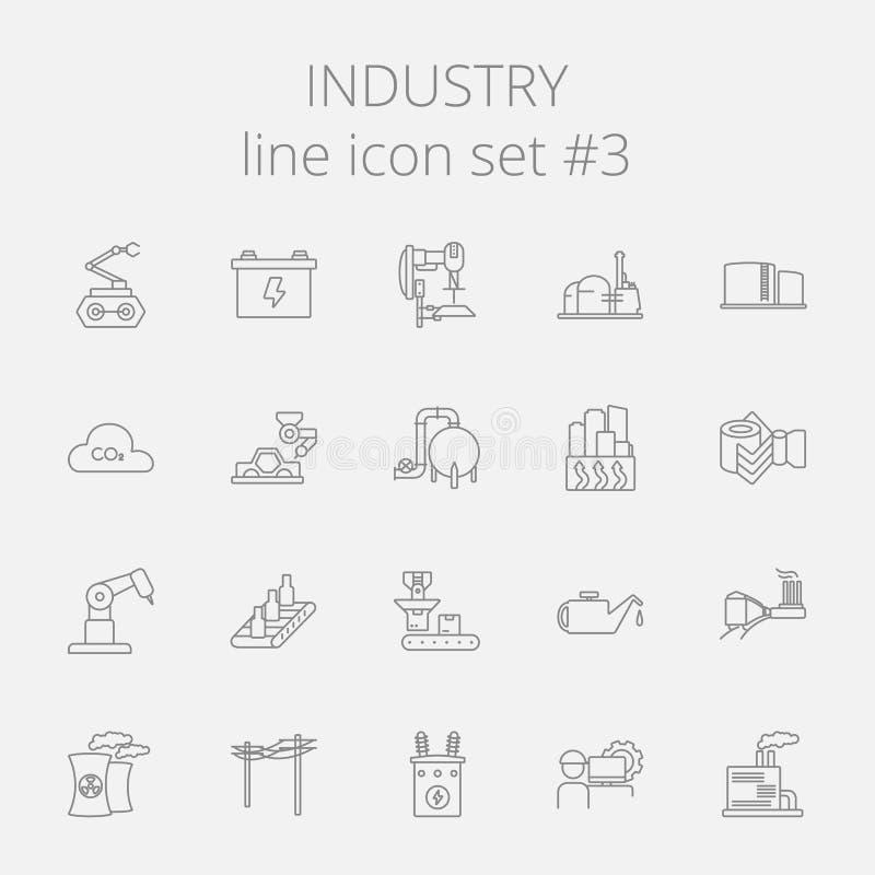 Insieme dell'icona di industria illustrazione vettoriale