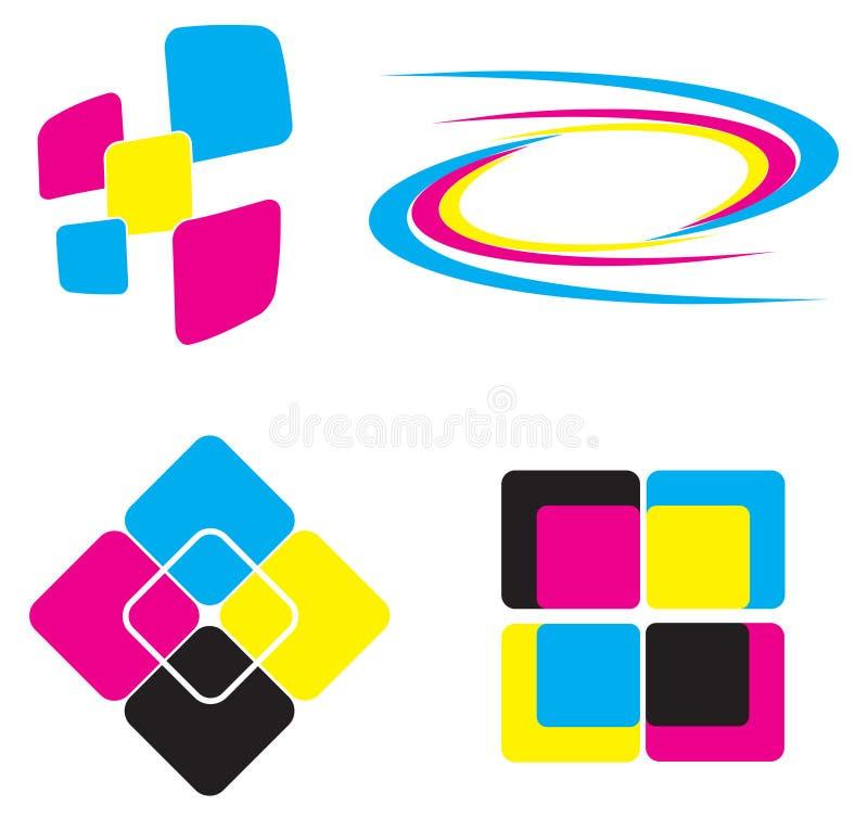 Insieme dell'icona di marchio illustrazione vettoriale