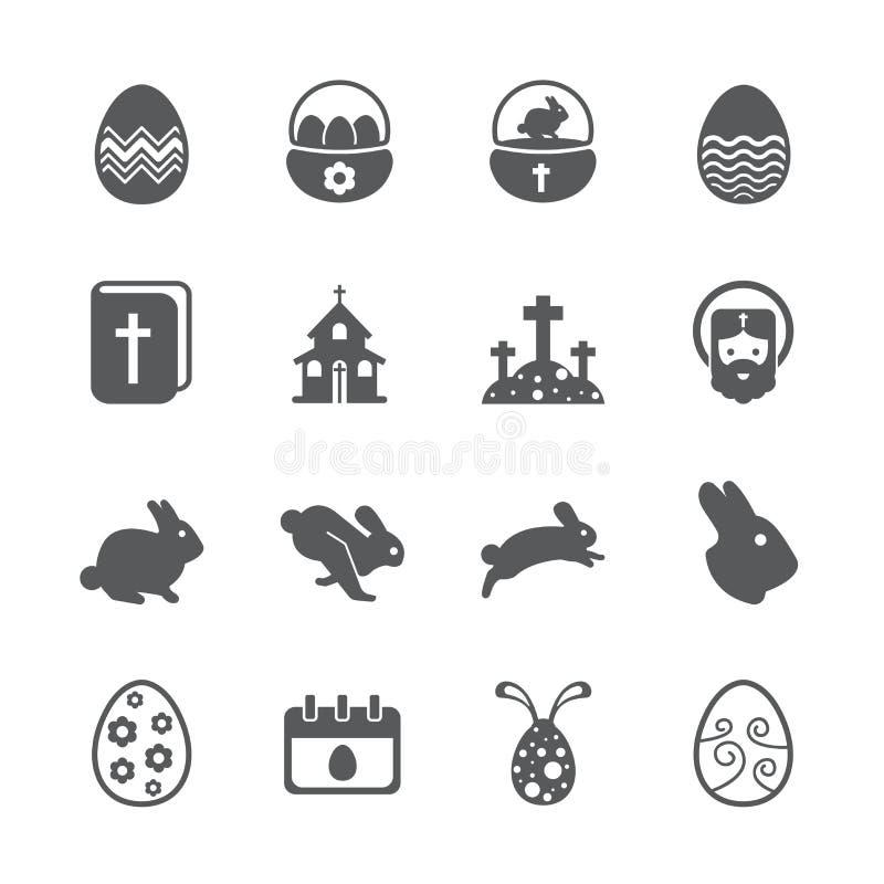 Insieme dell'icona di Pasqua royalty illustrazione gratis
