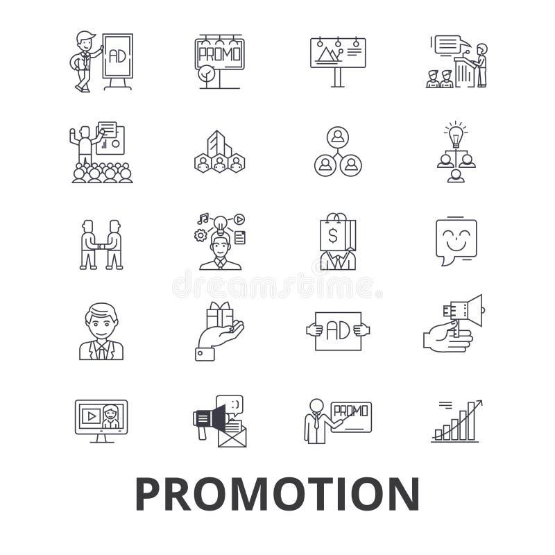 Insieme dell'icona di promozione illustrazione di stock