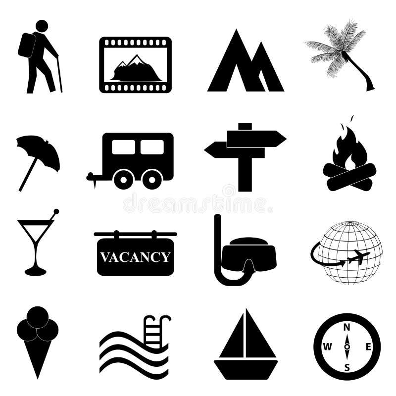 Insieme dell'icona di ricreazione e di svago illustrazione vettoriale