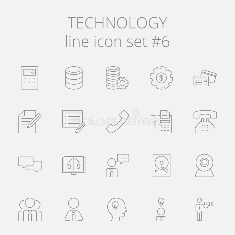 Insieme dell'icona di tecnologia royalty illustrazione gratis
