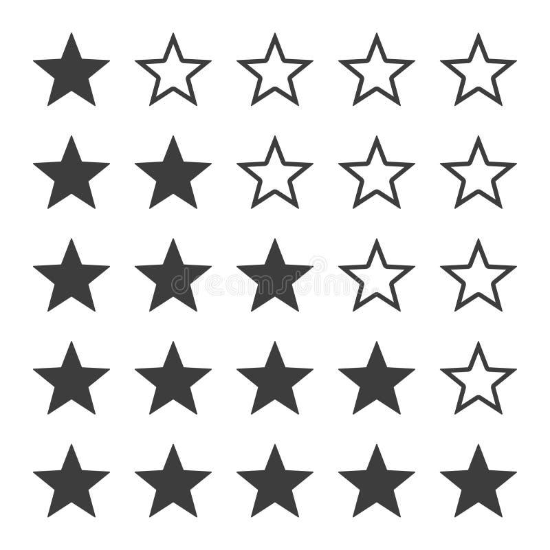 Insieme dell'icona di valutazioni della stella di vettore fotografia stock libera da diritti