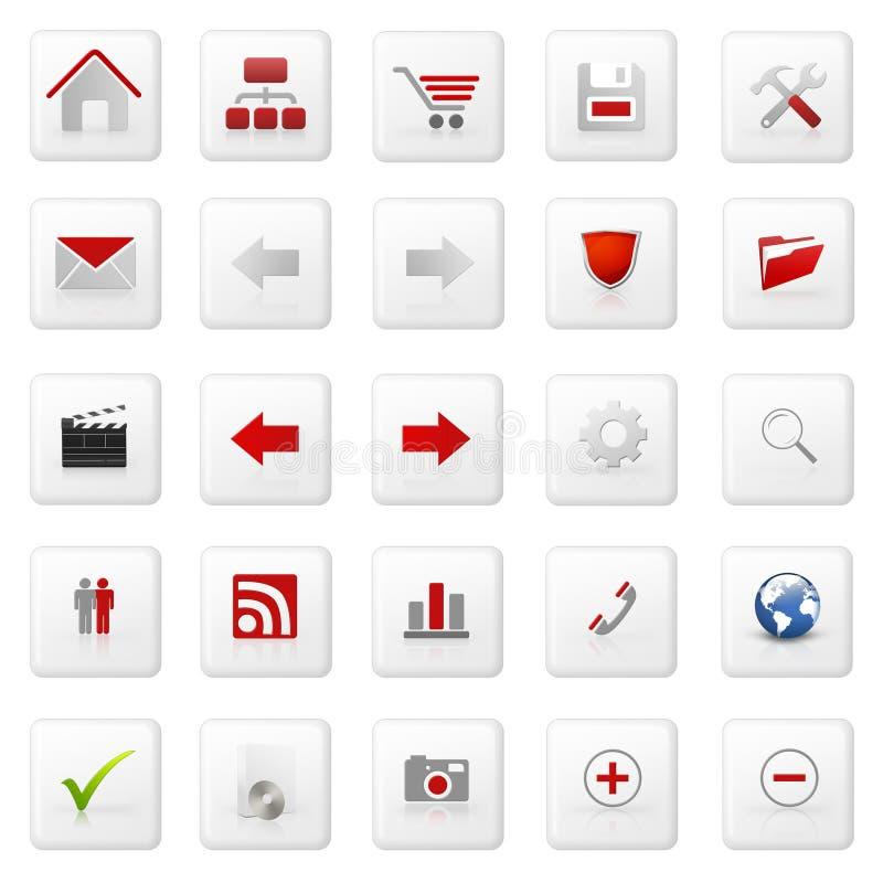 Insieme dell'icona di Web illustrazione vettoriale
