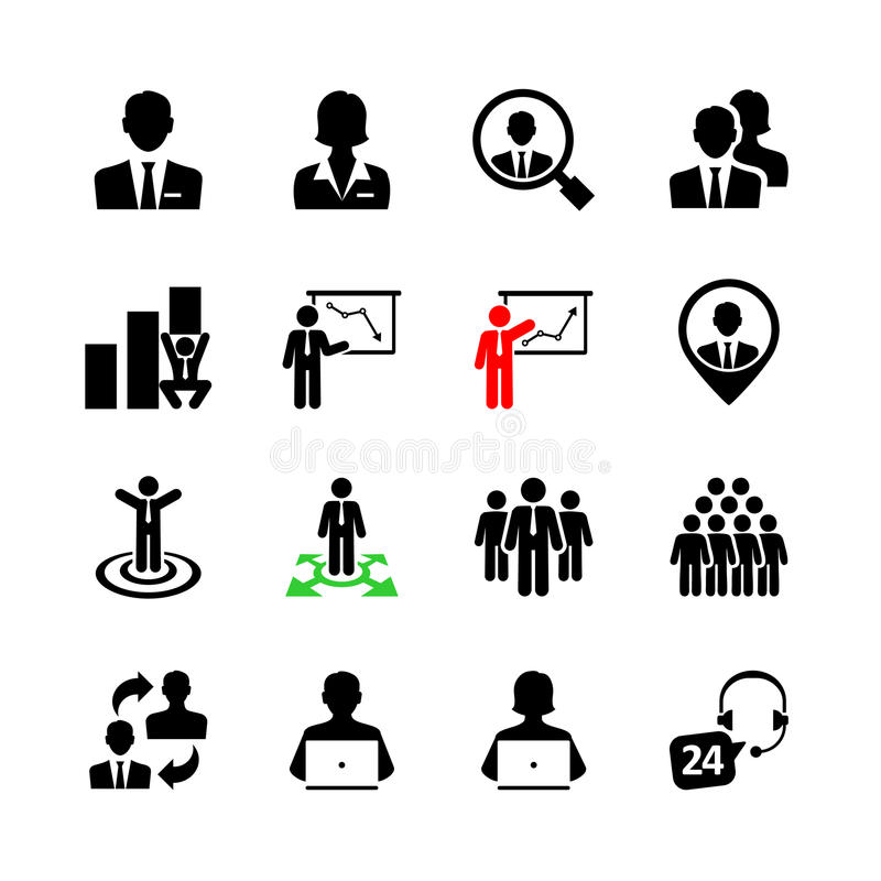 Insieme dell'icona di web di affari immagini stock libere da diritti