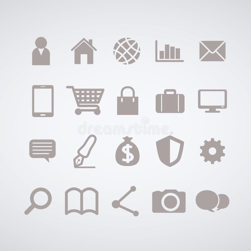 Insieme dell'icona di web, progettazione semplice illustrazione di stock