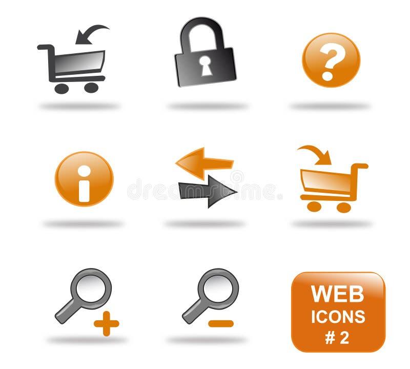 Insieme dell'icona di Web site, parte 2 royalty illustrazione gratis