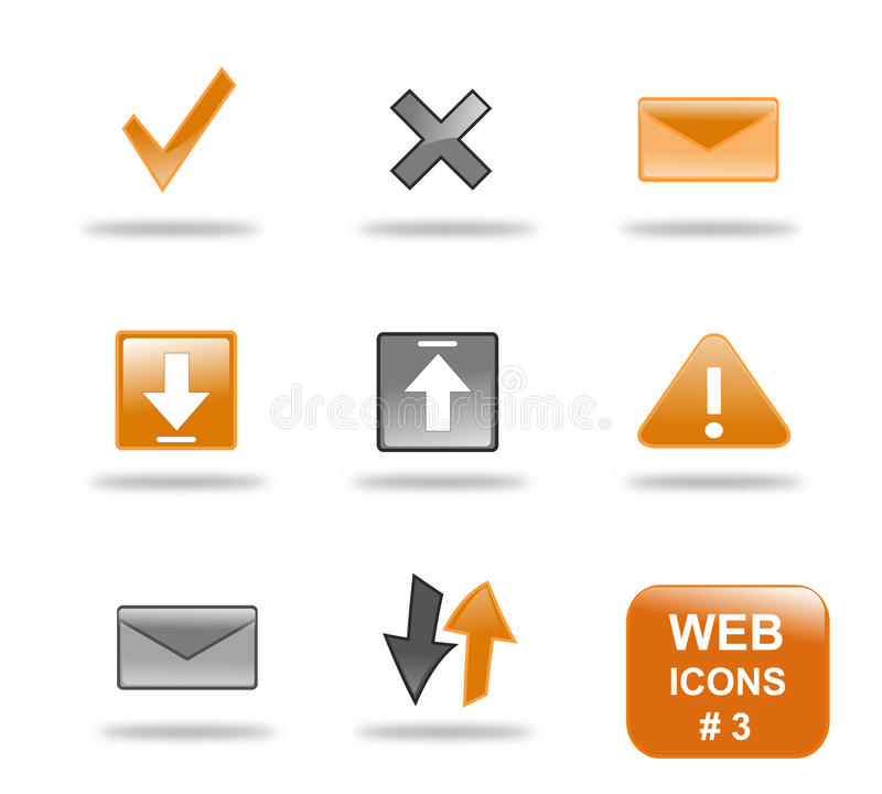 Insieme dell'icona di Web site, parte 3 illustrazione vettoriale