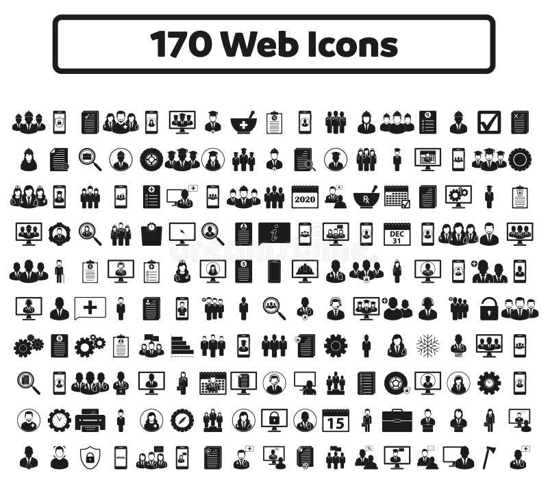 insieme dell'icona di web 170 illustrazione vettoriale