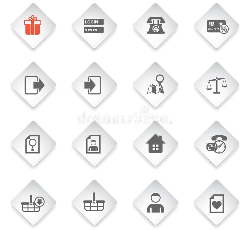 Insieme dell'icona dell'interfaccia di commercio elettronico royalty illustrazione gratis