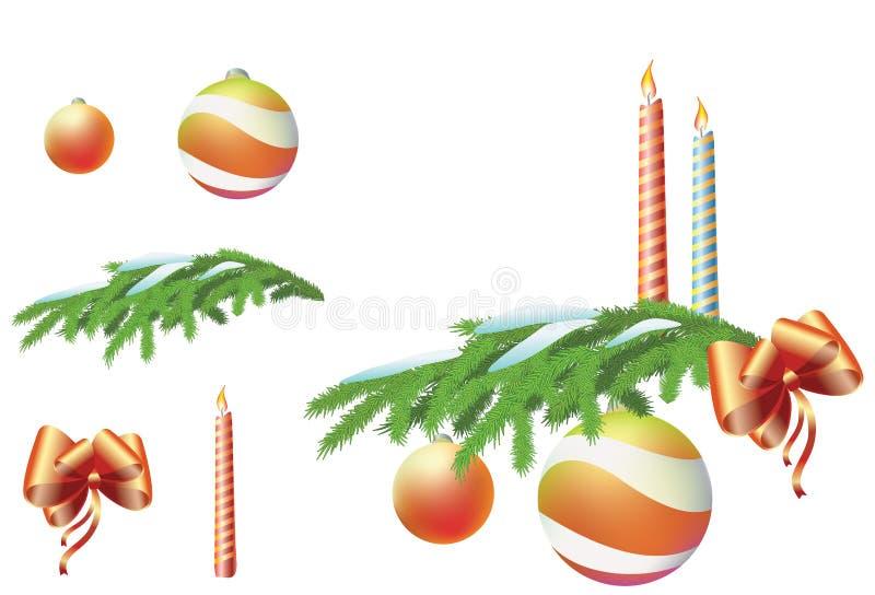 Insieme dell'illustrazione di nuovo anno immagini stock