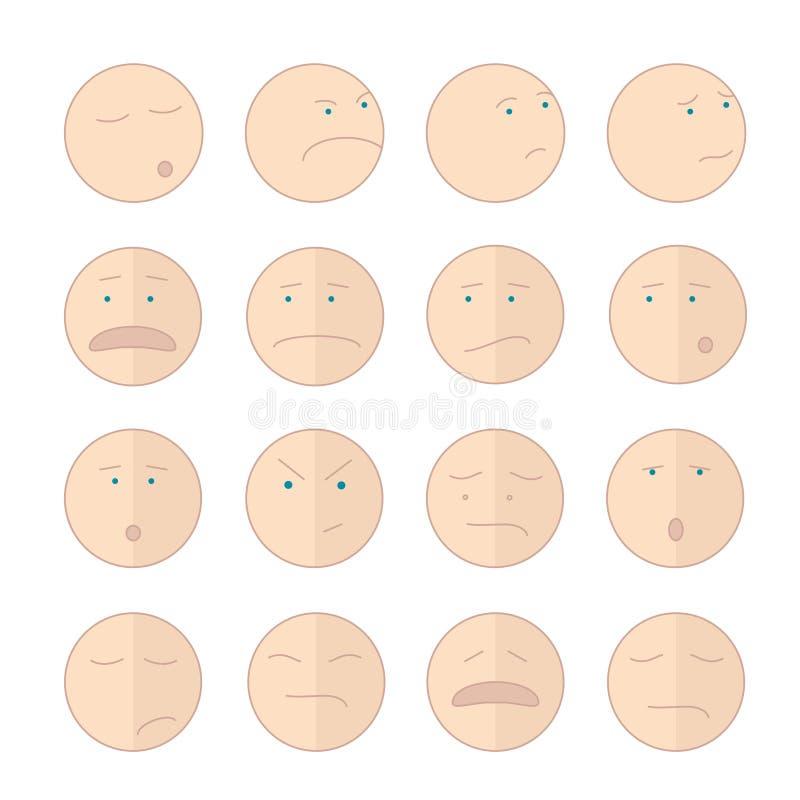Download Insieme Dell'illustrazione Di Sorriso Degli Emoticon Dei Fronti Illustrazione di Stock - Illustrazione di grafico, isolato: 55356091